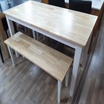 원목 테이블 벤치형 의자